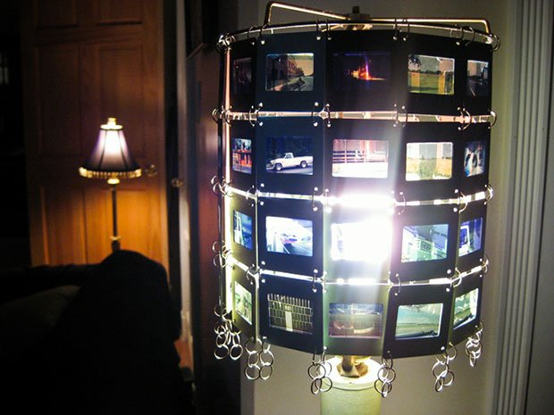 Recycled Slide Film Lamp Shade