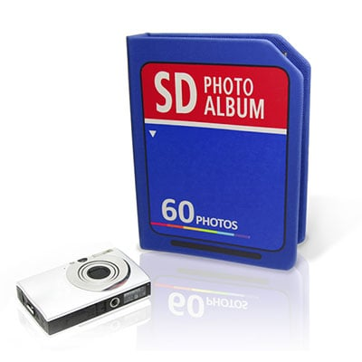 Photo Album Shaped Like a Memory Card sdcardalbum