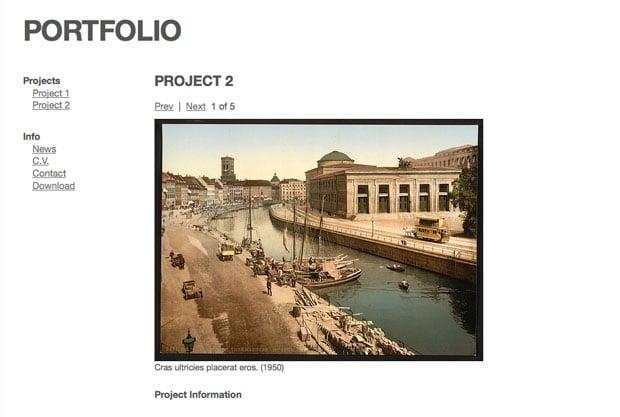 Simple Portfolio Template For Wordpress - Wordpress portfolio template