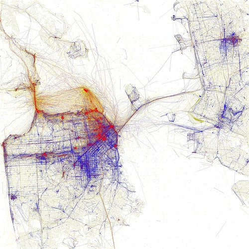 Big City Heat Maps of Local and Tourist Photo Spots – San Francisco City Map Tourist
