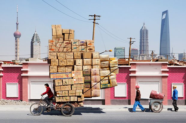 Bicycle Delivery of Impossibly Large Loads in Shanghai bike11