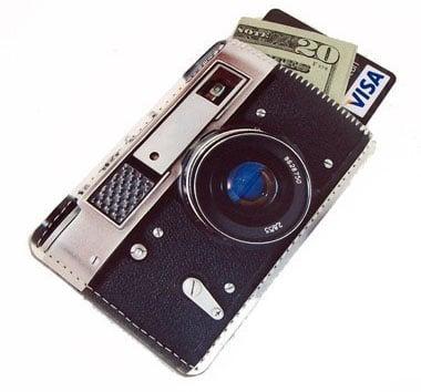 Retro camera business card case colourmoves