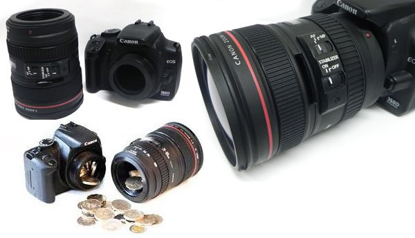 Canon DSLR Camera Piggy Bank canondslrpiggy