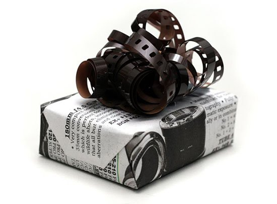 Turn Film into Ribbon Bows for Presents filmbow