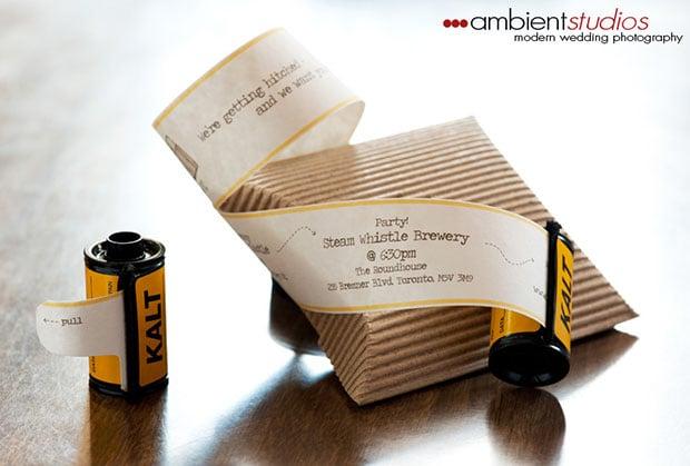 Creative Wedding Invitation Wording: Wedding Invitations In Rolls Of Film