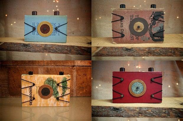 Pinhole Cameras Made From Vintage Hardback Books