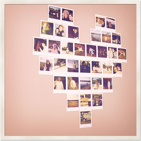Show off your polaroid love with a heart - Wall decor photography ...