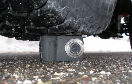 Prop Up Your Car with the SeaLife Mini II Digital Camera