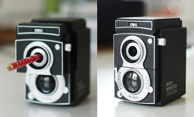Make a Point with This Vintage Camera Pencil Sharpener delisharpener