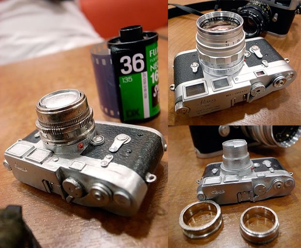 Wedding Rings Based on the Leica 50mm Summilux Lens leicarings