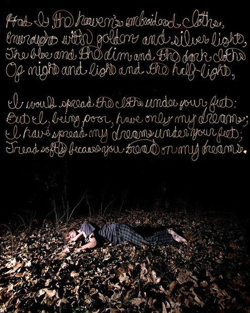 Light Painting Poetry into Photos