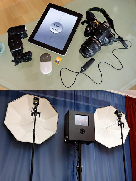 Diy wedding booth app to see the photo booth in action watch this diy wedding booth app german wedding photographer rocco built this ingenious do it yourself solutioingenieria Gallery