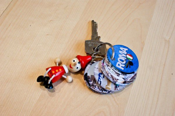 A Tiny Photo Album for Your Keychain keychain