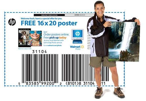 Get A Free 16x20 Photo Poster At Walmart