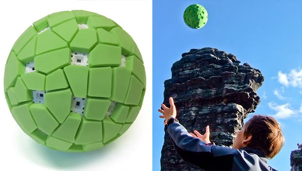 ball camera captures 360° panoramas when tossed into the airThrow Your Ball Camera To Take Panoramic Photos #5
