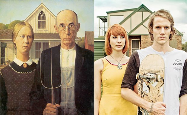 Photos Recreating Famous Works of Art