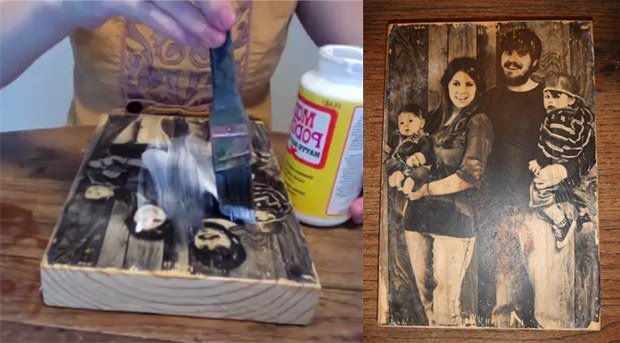 How to Transfer a Photograph Onto a Block of Wood woodprint mini