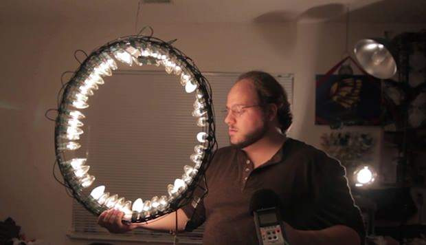 build a cheap ring light using lights and a