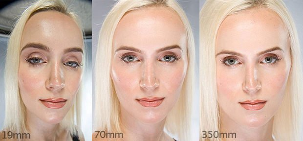 A Striking Look At How Focal Length Affect Head Shots - How focal lengths can change the shape of your face