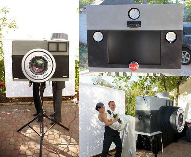 build a diy photo booth shaped like a giant lomo camera. Black Bedroom Furniture Sets. Home Design Ideas