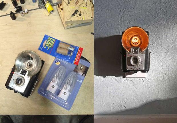 how to make your own vintage camera nightlight. Black Bedroom Furniture Sets. Home Design Ideas