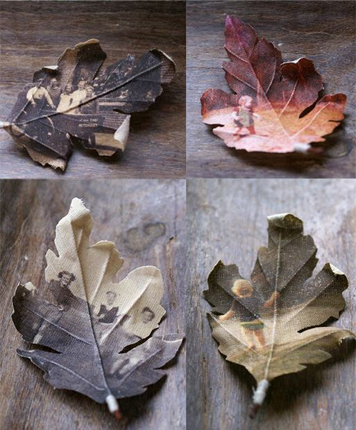 . After printing the images onto fabric, Anders crafts them into leaf ...