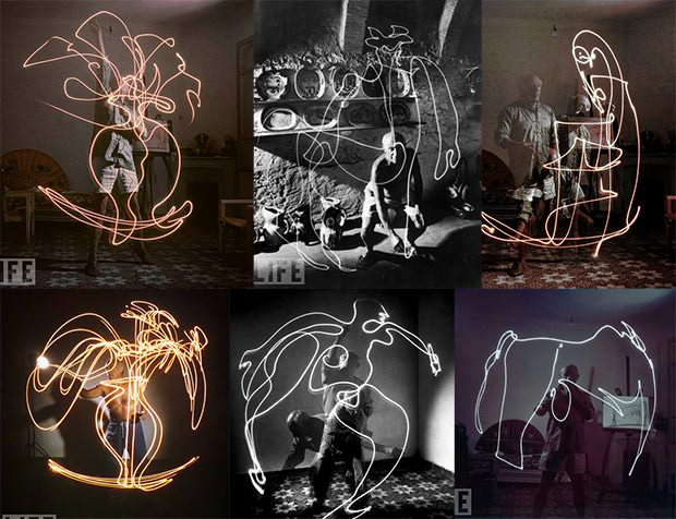 Light Painting Photos by Pablo Picasso picassolight mini
