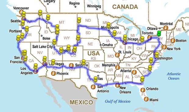 12 225 mile road trip around america in a 5