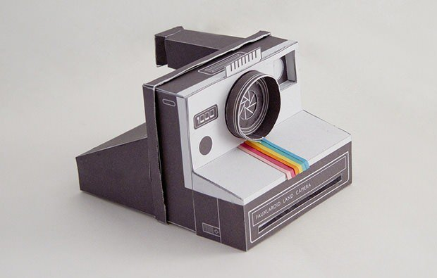 A working papercraft polaroid camera altavistaventures Image collections