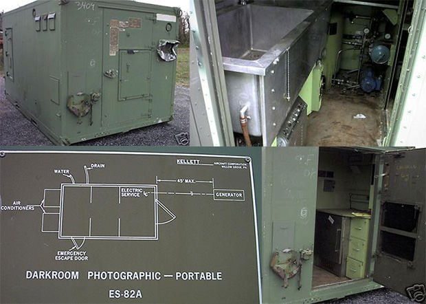 Navy Mobile Shelters : Us army darkroom aluminum shelter