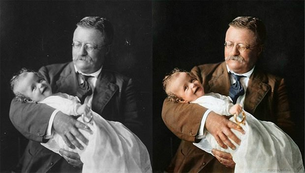 You can find more of these colorized photographs in this online album