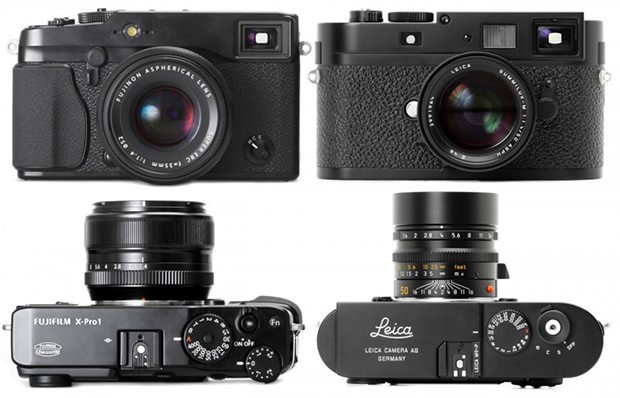 Fujifilm X Pro1 Next To The Leica M9 P