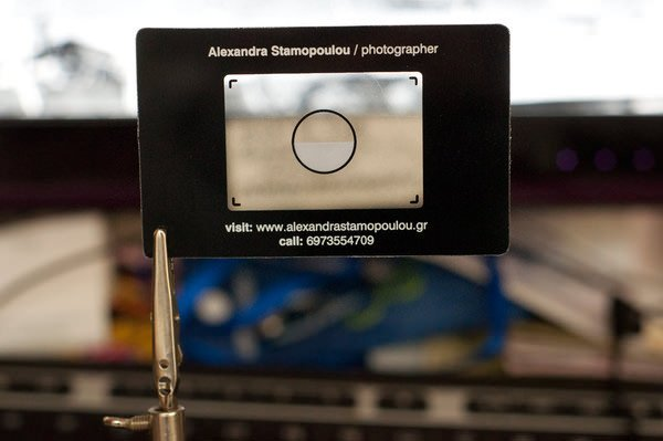 Business cards that mimic the look of an old zenit viewfinder colourmoves