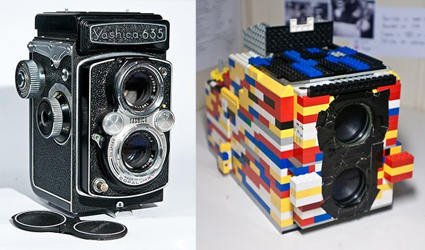 Fully Functional Twin Lens Reflex Camera Created Using LEGO Bricks rollilego mini