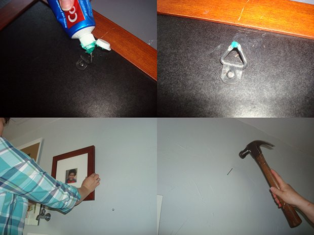 Use a Dab of Toothpaste to Position Nails when Hanging Picture Frames toothpaste mini