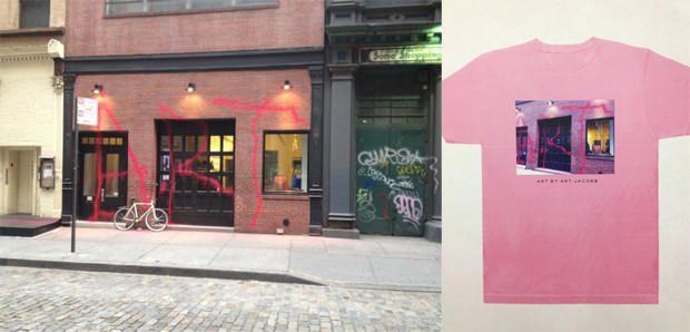 Marc Jacobs Slaps Graffitied Store Photo onto Shirt, Gets Last Laugh marcjacobswins mini