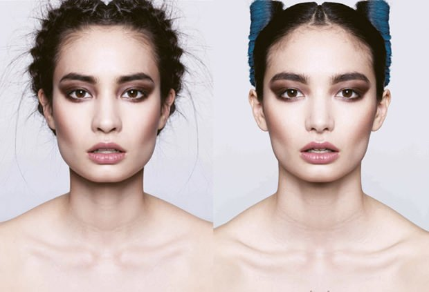 Models Faces Split and Mirrored Down the Middle split2 mini