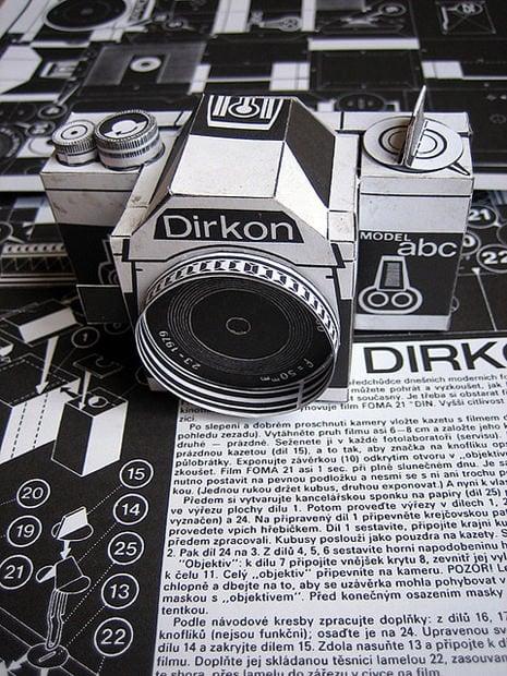 Dirkon The Vintage Diy Pinhole Camera Made Of Paper