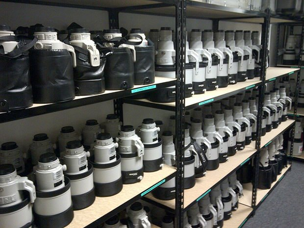 Canon Olympics Camera Gear Room