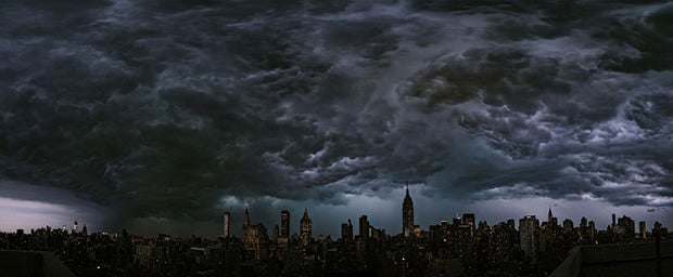 Epic Panorama of Storm Clouds Looming Over New York City storm mini1
