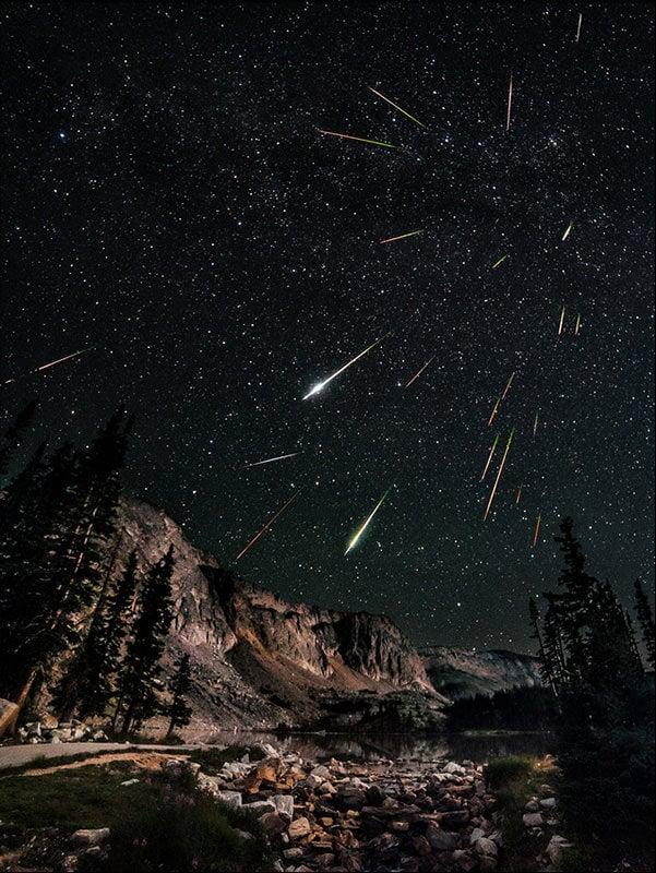 amazing shooting stars space - photo #30