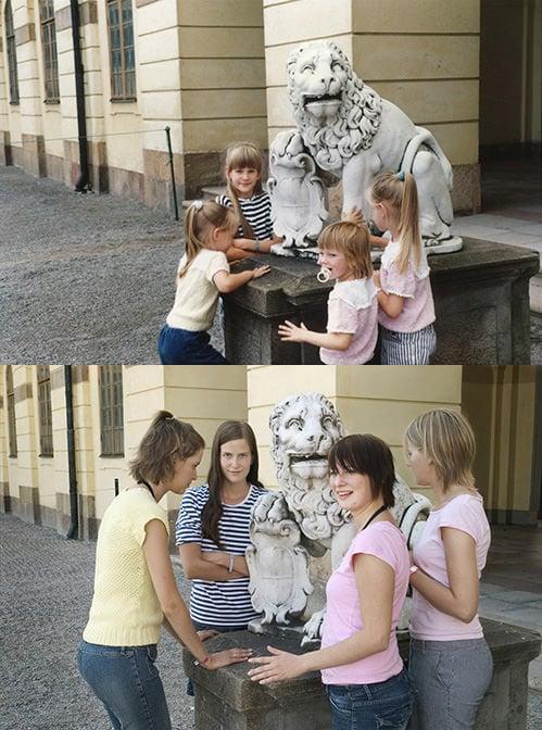 Four Sisters Recreate Childhood Photos Taken Decades Ago