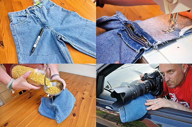 Make A Diy Bean Bag Stabilizer Using Old Jeans And Some Lentils