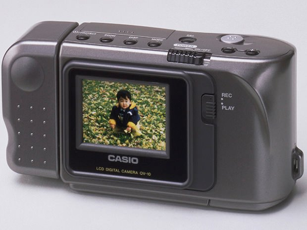 Casio QV 10: The First Digital Camera that Offered an LCD Screen and Live View casiolcd mini