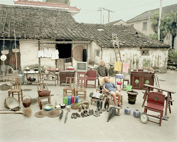 Portraits of Rural Chinese Families Posing with Everything They Own fam1