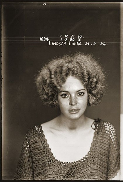 Celebrity Booking Photos Photoshopped Into Vintage 1920s Mugshots mug1
