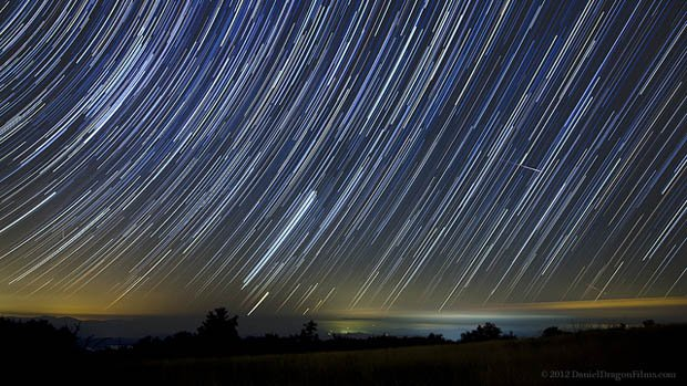 Beautiful TimeLapse Of Long Exposure Star Trails Traversing The - 24 times long exposure photography resulted in something magical