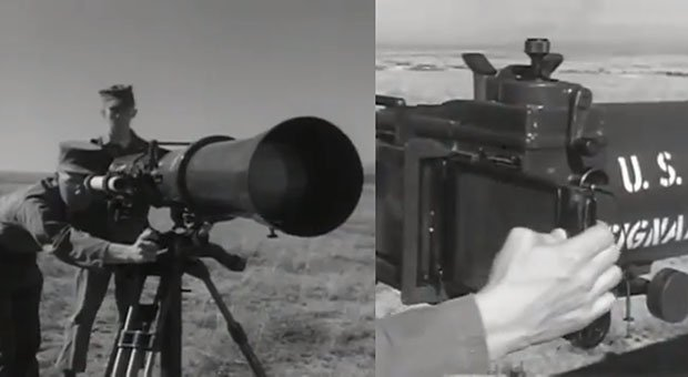 This Old US Army Camera Had a 100 Inch Infrared Lens and Required a Spotter usarmy