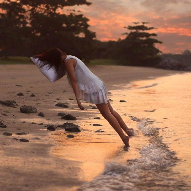 Dreamlike Self-Portraits of a Girl Floating, Falling, and Flying