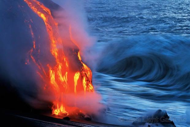 Daredevils Brave Near Scalding Water For Incredible Lava